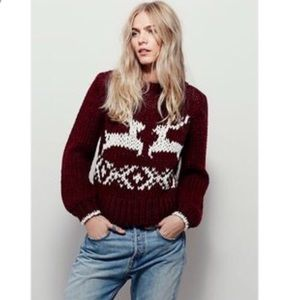 Free People Dancer Prancer Chunky Knit Sweater S